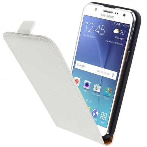 Mobiparts Premium Flip Case White Samsung Galaxy J5
