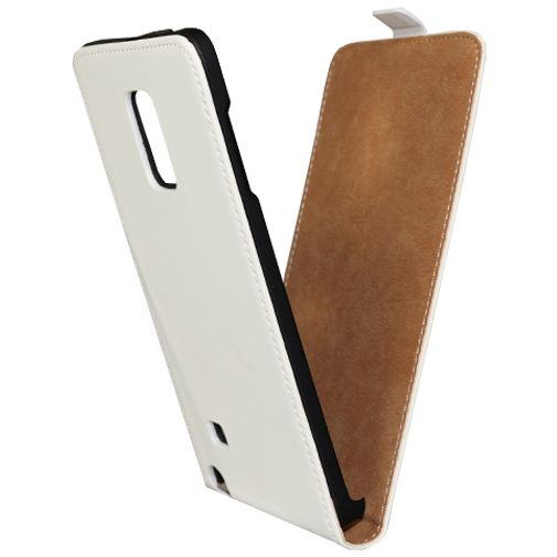 Mobiparts Premium Flip Case White Samsung Galaxy Note Edge