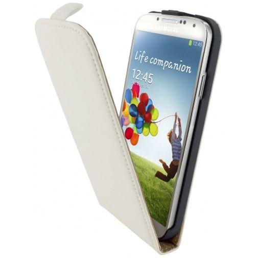 Mobiparts Premium Flip Case White Samsung Galaxy S4