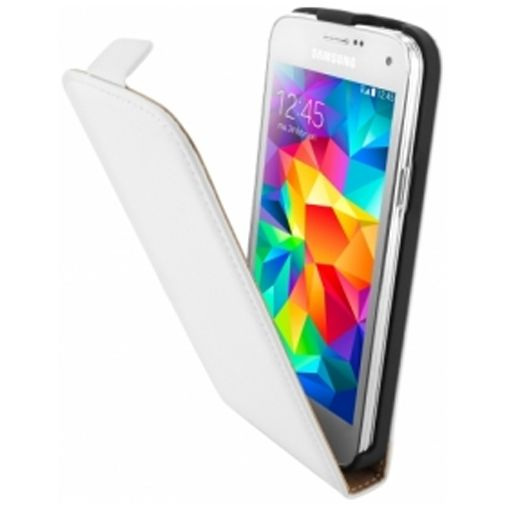 Mobiparts Premium Flip Case White Samsung Galaxy S5 Mini