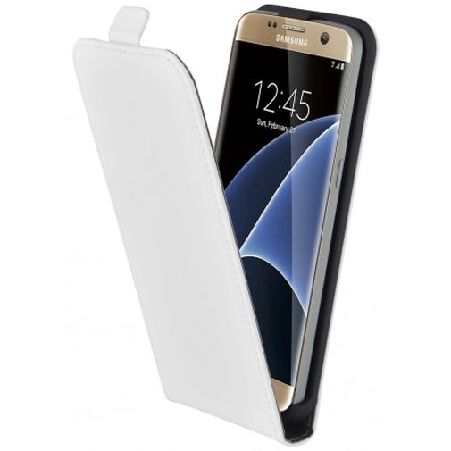 Mobiparts Premium Flip Case White Samsung Galaxy S7