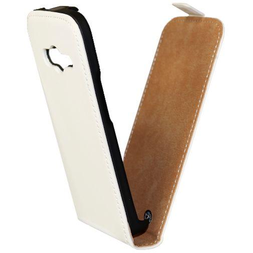 Mobiparts Premium Flip Case White Samsung Galaxy Trend 2