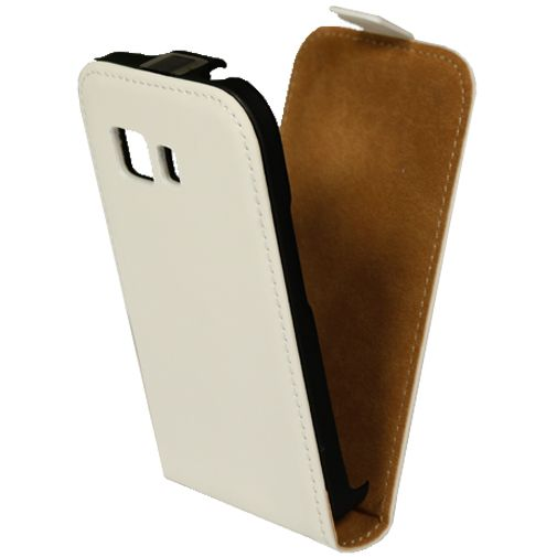 Mobiparts Premium Flip Case White Samsung Galaxy Young 2