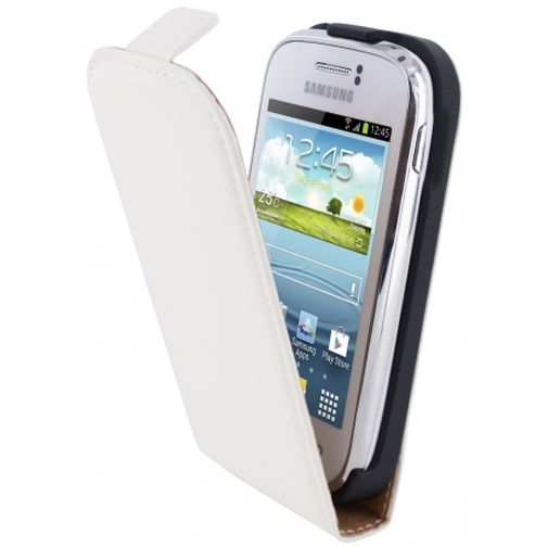 Mobiparts Premium Flip Case White Samsung Galaxy Young S6310