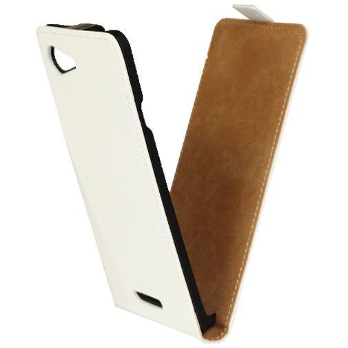 Mobiparts Premium Flip Case White Sony Xperia E3