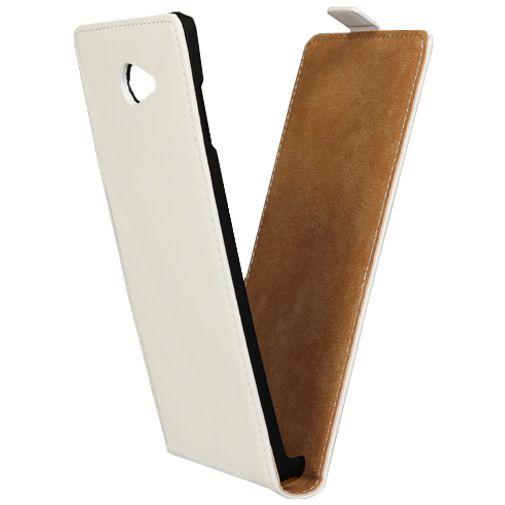 Mobiparts Premium Flip Case White Sony Xperia M2 Aqua
