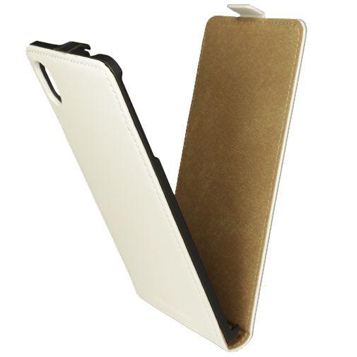 Mobiparts Premium Flip Case White Sony Xperia M4 Aqua