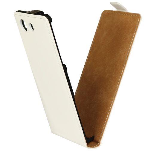 Mobiparts Premium Flip Case White Sony Xperia Z3 Compact