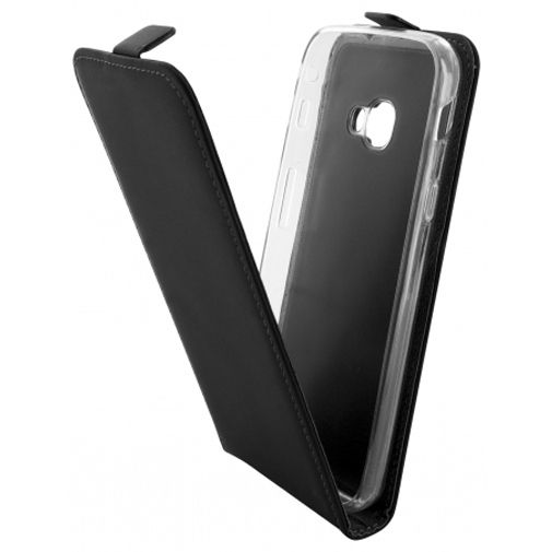 Mobiparts Premium Flip TPU Case Black Samsung Galaxy Xcover 4