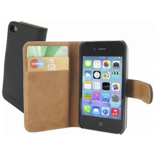 Mobiparts Premium Wallet Case Apple iPhone 4/4S Black