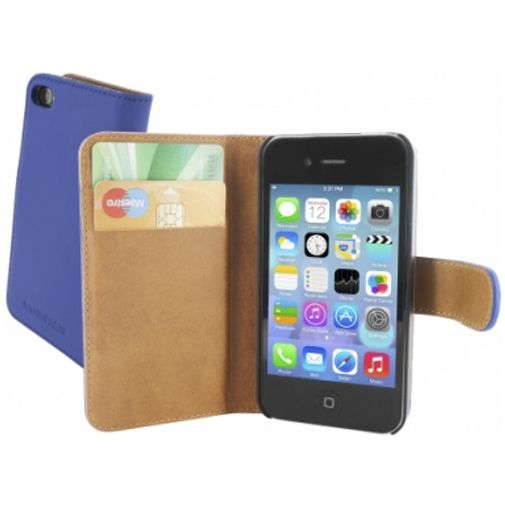 Mobiparts Premium Wallet Case Apple iPhone 4/4S Blue