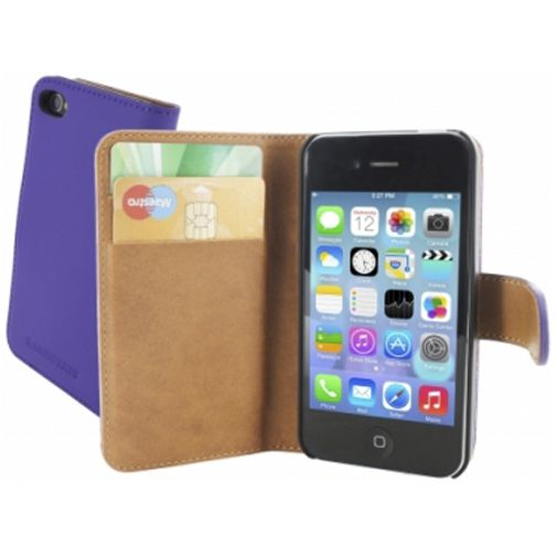 Mobiparts Premium Wallet Case Apple iPhone 4/4S Purple