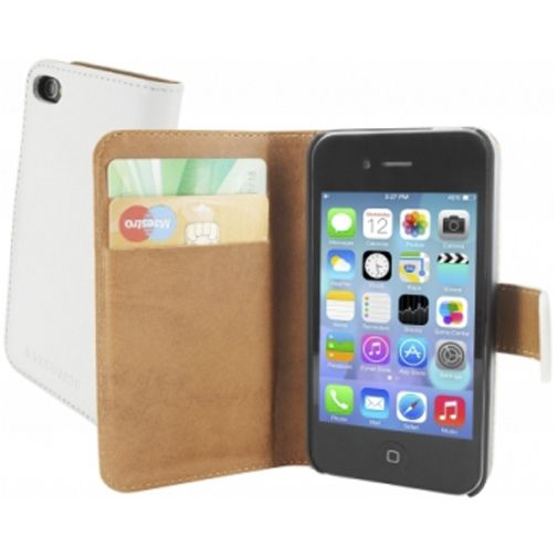 Mobiparts Premium Wallet Case Apple iPhone 4/4S White