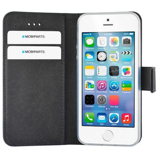 Mobiparts Premium Wallet Case Apple iPhone 5/5S/SE Black