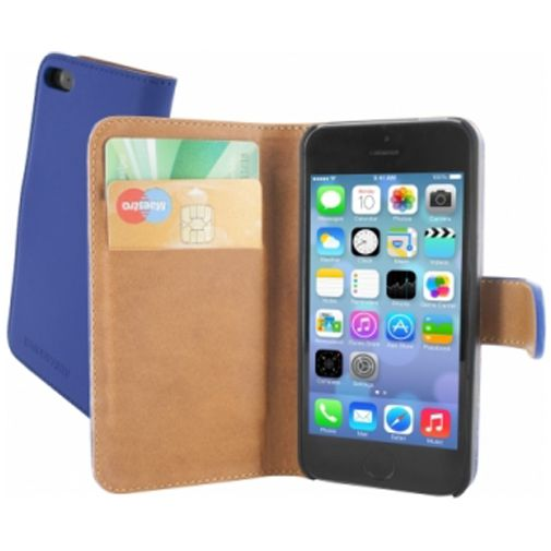 Mobiparts Premium Wallet Case Apple iPhone 5/5S/SE Blue