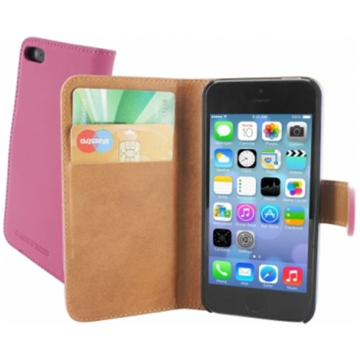 Mobiparts Premium Wallet Case Apple iPhone 5/5S Pink