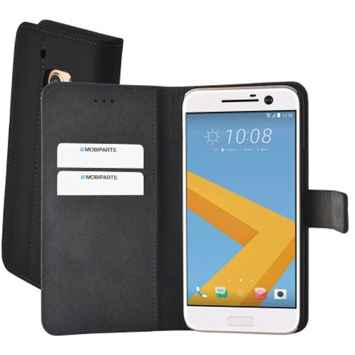 Mobiparts Premium Wallet Case Black HTC 10 (Lifestyle)