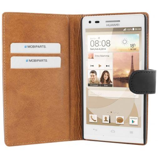 Mobiparts Premium Wallet Case Black Huawei Ascend G6 4G