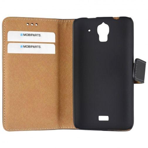 Mobiparts Premium Wallet Case Black Huawei Y360