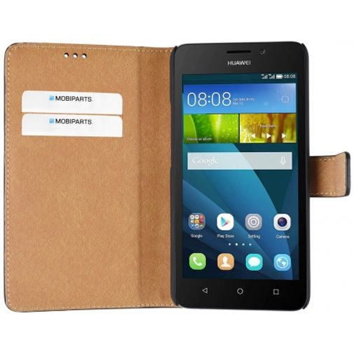 Mobiparts Premium Wallet Case Black Huawei Y635