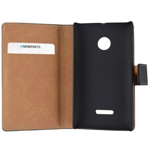 Mobiparts Premium Wallet Case Black Microsoft Lumia 532