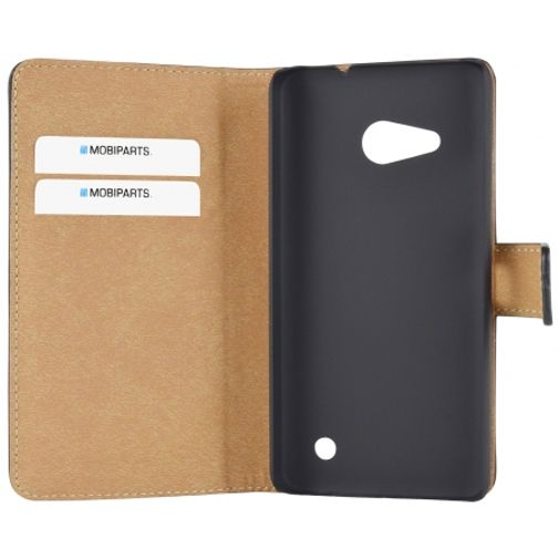 Mobiparts Premium Wallet Case Black Microsoft Lumia 550