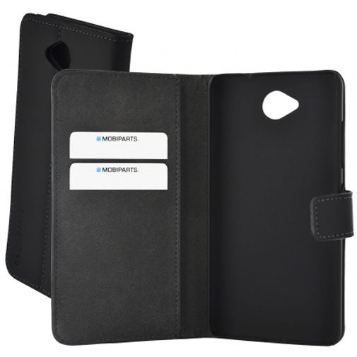 Mobiparts Premium Wallet Case Black Microsoft Lumia 650
