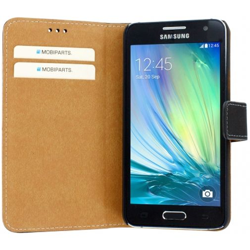Mobiparts Premium Wallet Case Black Samsung Galaxy A3