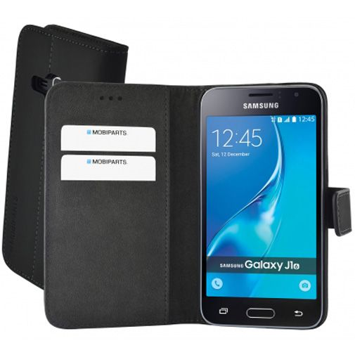 Mobiparts Premium Wallet Case Black Samsung Galaxy J1 (2016)