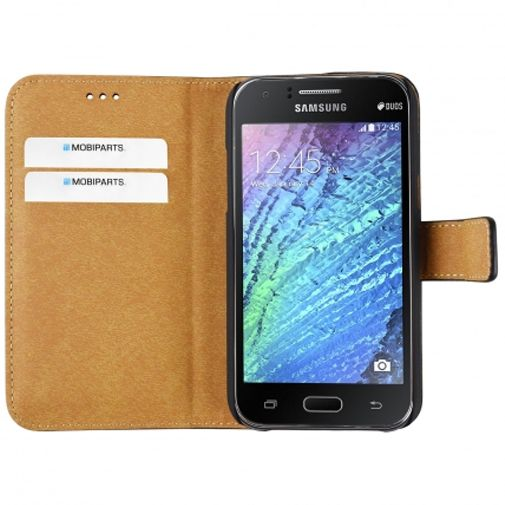 Mobiparts Premium Wallet Case Black Samsung Galaxy J1