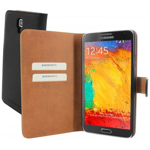 Mobiparts Premium Wallet Case Black Samsung Galaxy Note 3 Neo