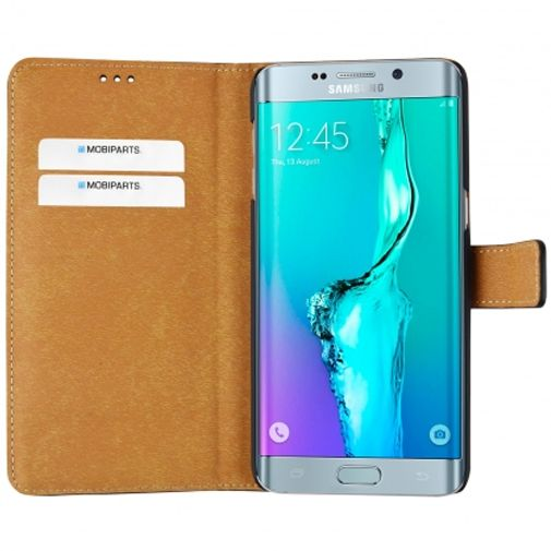 Mobiparts Premium Wallet Case Black Samsung Galaxy S6 Edge Plus