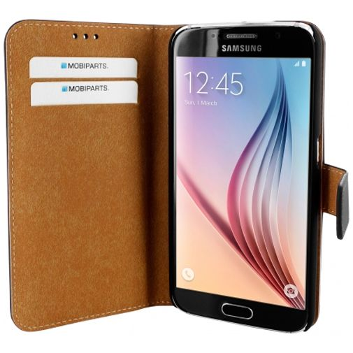Mobiparts Premium Wallet Case Black Samsung Galaxy S6