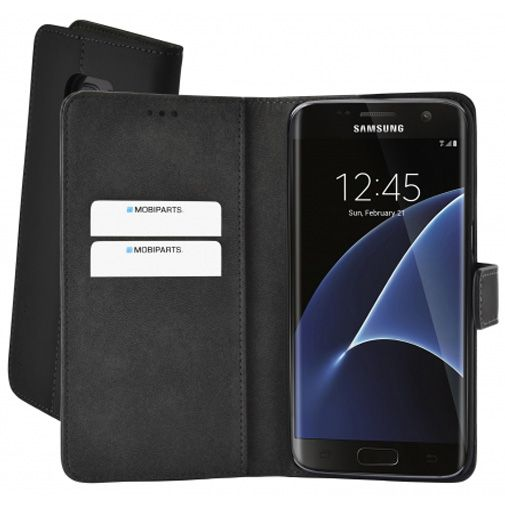 Mobiparts Premium Wallet Case Black Samsung Galaxy S7 Edge