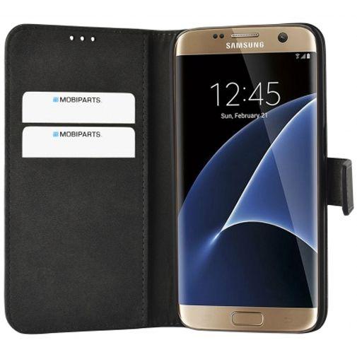 Mobiparts Premium Wallet Case Black Samsung Galaxy S7