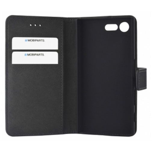 Mobiparts Premium Wallet Case Black Sony Xperia X Compact