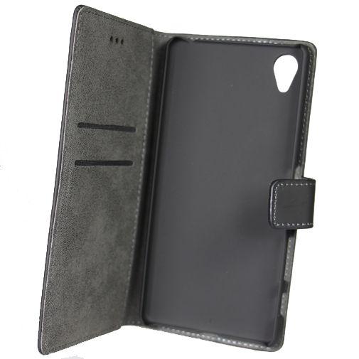 Mobiparts Premium Wallet Case Black Sony Xperia X