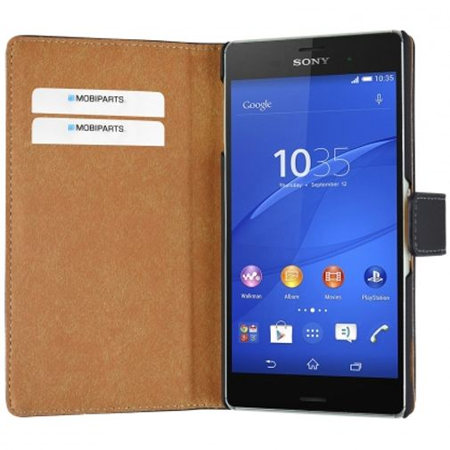 Mobiparts Premium Wallet Case Black Sony Xperia Z3 (Plus)