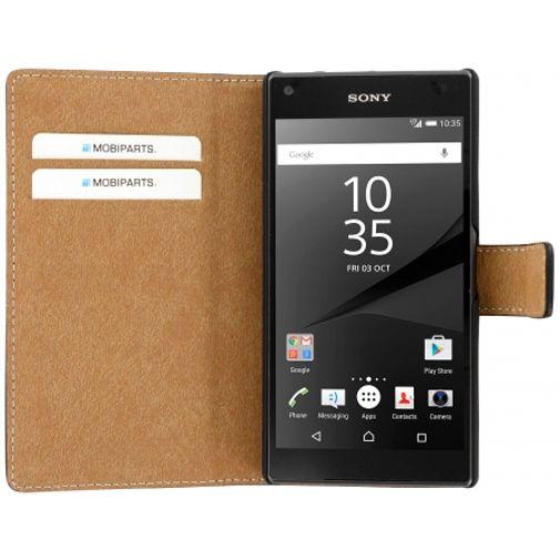 Mobiparts Premium Wallet Case Black Sony Xperia Z5 Compact