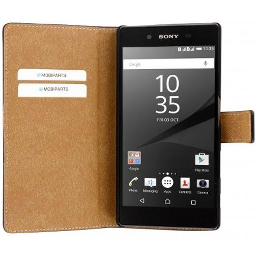 Mobiparts Premium Wallet Case Black Sony Xperia Z5