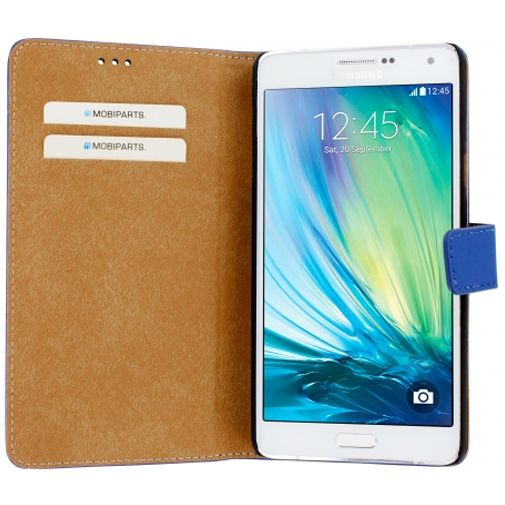 Mobiparts Premium Wallet Case Blue Samsung Galaxy A7