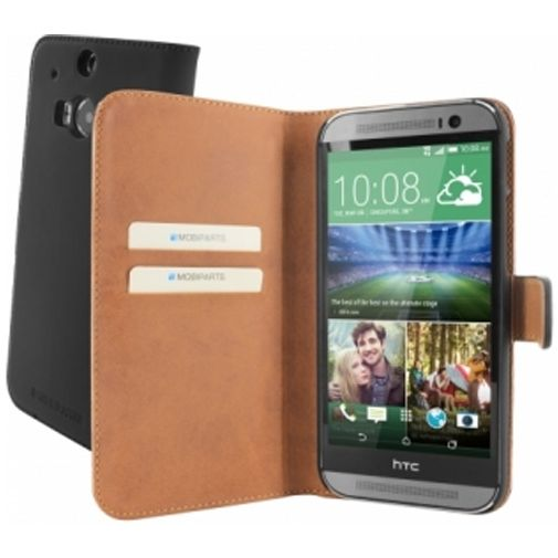 Productafbeelding van de Mobiparts Premium Wallet Case HTC One M8 Black