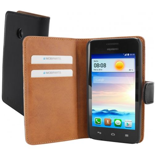 Mobiparts Premium Wallet Case Huawei Ascend Y330 Black