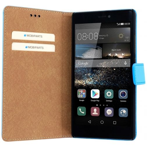 Mobiparts Premium Wallet Case Light Blue Huawei P8