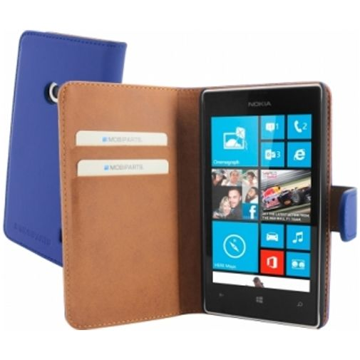 Mobiparts Premium Wallet Case Nokia Lumia 520 / 525 Blue