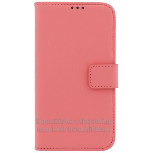 Mobiparts Premium Wallet Case Peach Pink Huawei P8 Lite