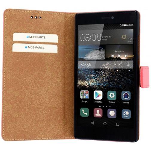 Mobiparts Premium Wallet Case Peach Pink Huawei P8