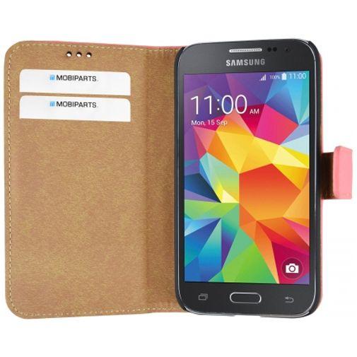 Productafbeelding van de Mobiparts Premium Wallet Case Peach Pink Samsung Galaxy Core Prime (VE)