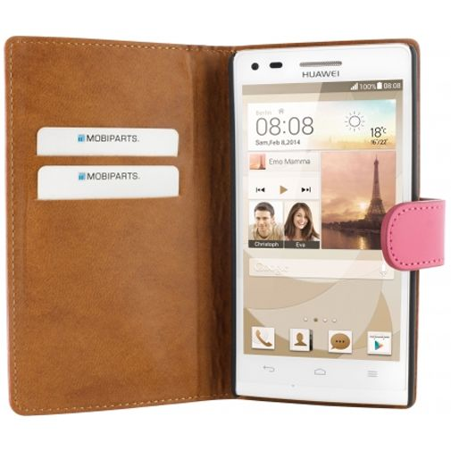 Mobiparts Premium Wallet Case Pink Huawei Ascend G6 4G
