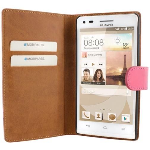 Productafbeelding van de Mobiparts Premium Wallet Case Pink Huawei Ascend G6